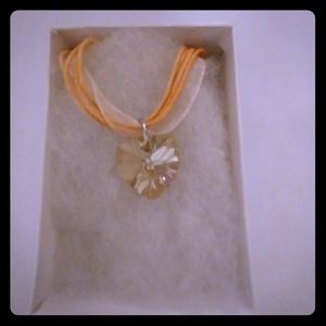 Jewelry - Early Dawn Gold Crystal Heart Necklace
